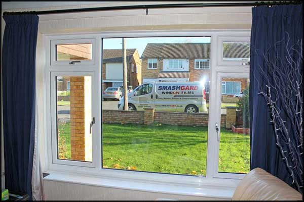 With window film