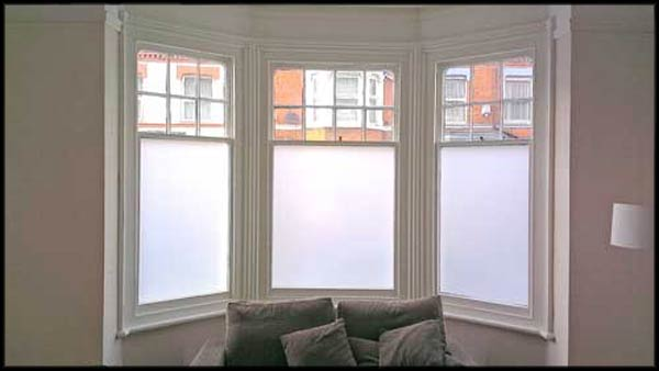Frosted window film